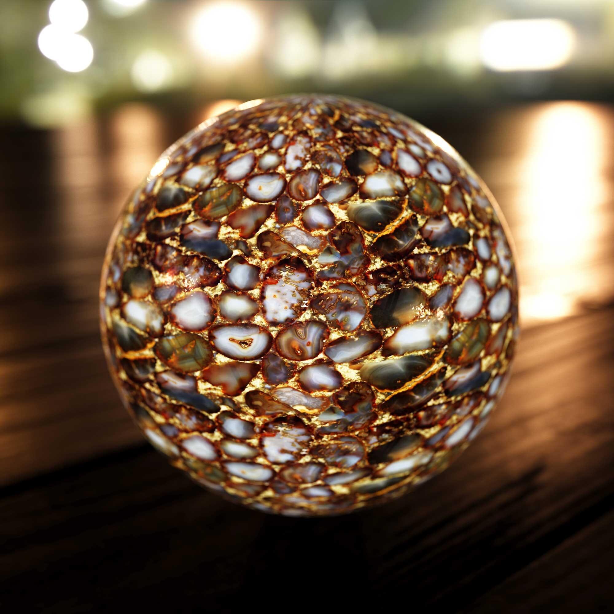 Image 3D - Sphère en marbre