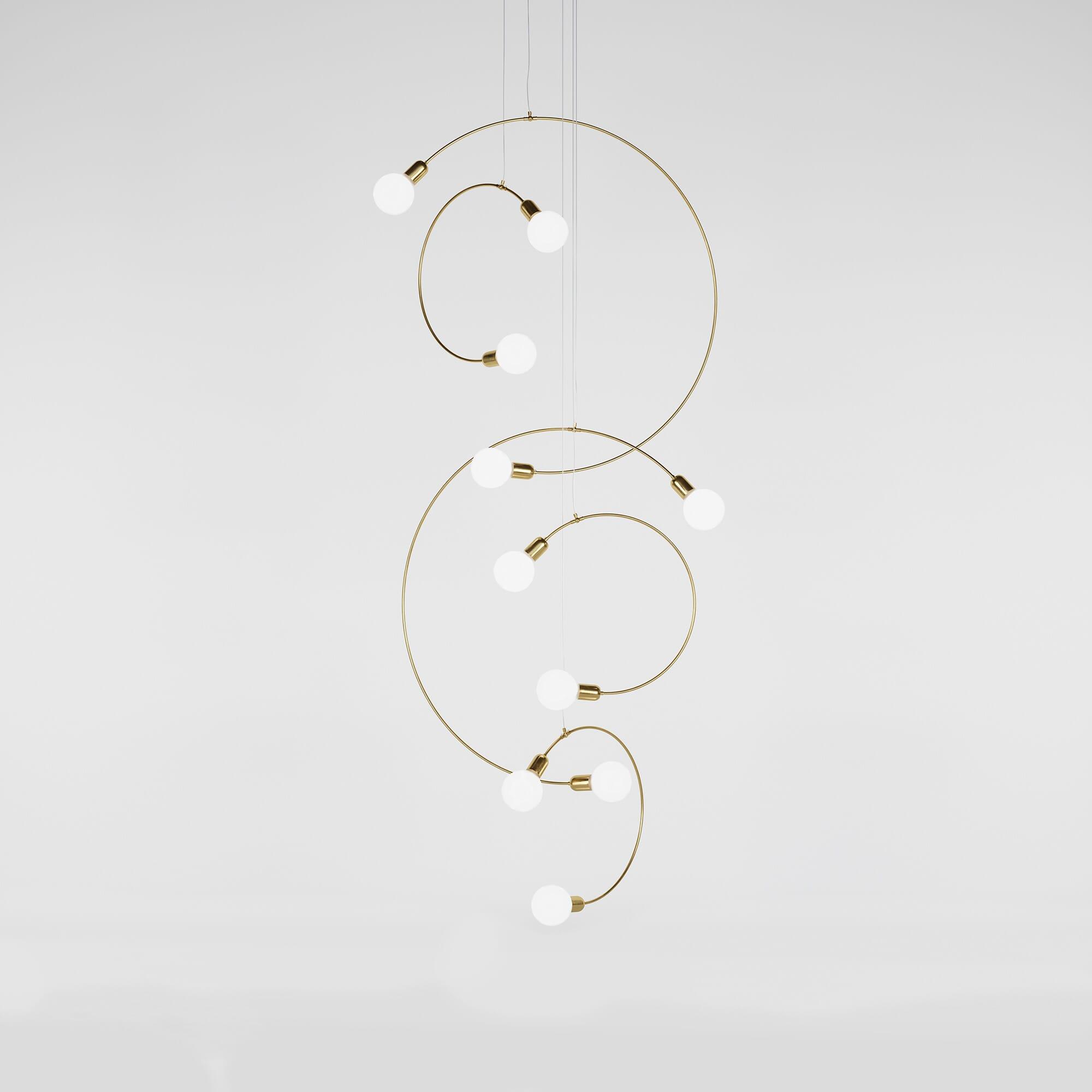 Luminaire Selene Collection Brass & Opaline Gobo Light - Rendu 3D