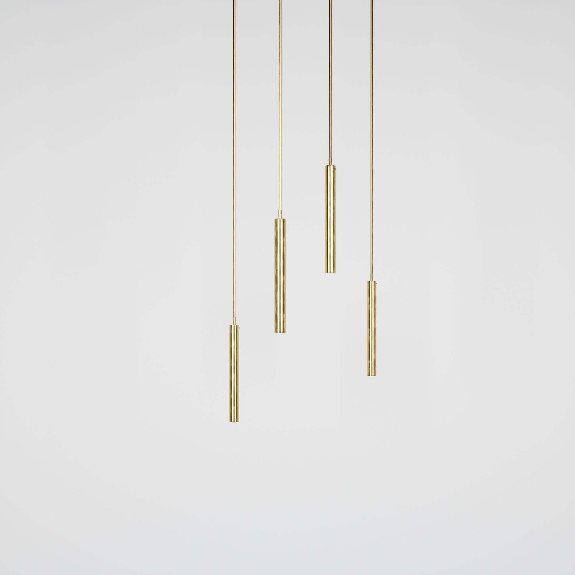 Luminaire Zeus Collection Brass & Opaline Gobo Light - Rendu 3D