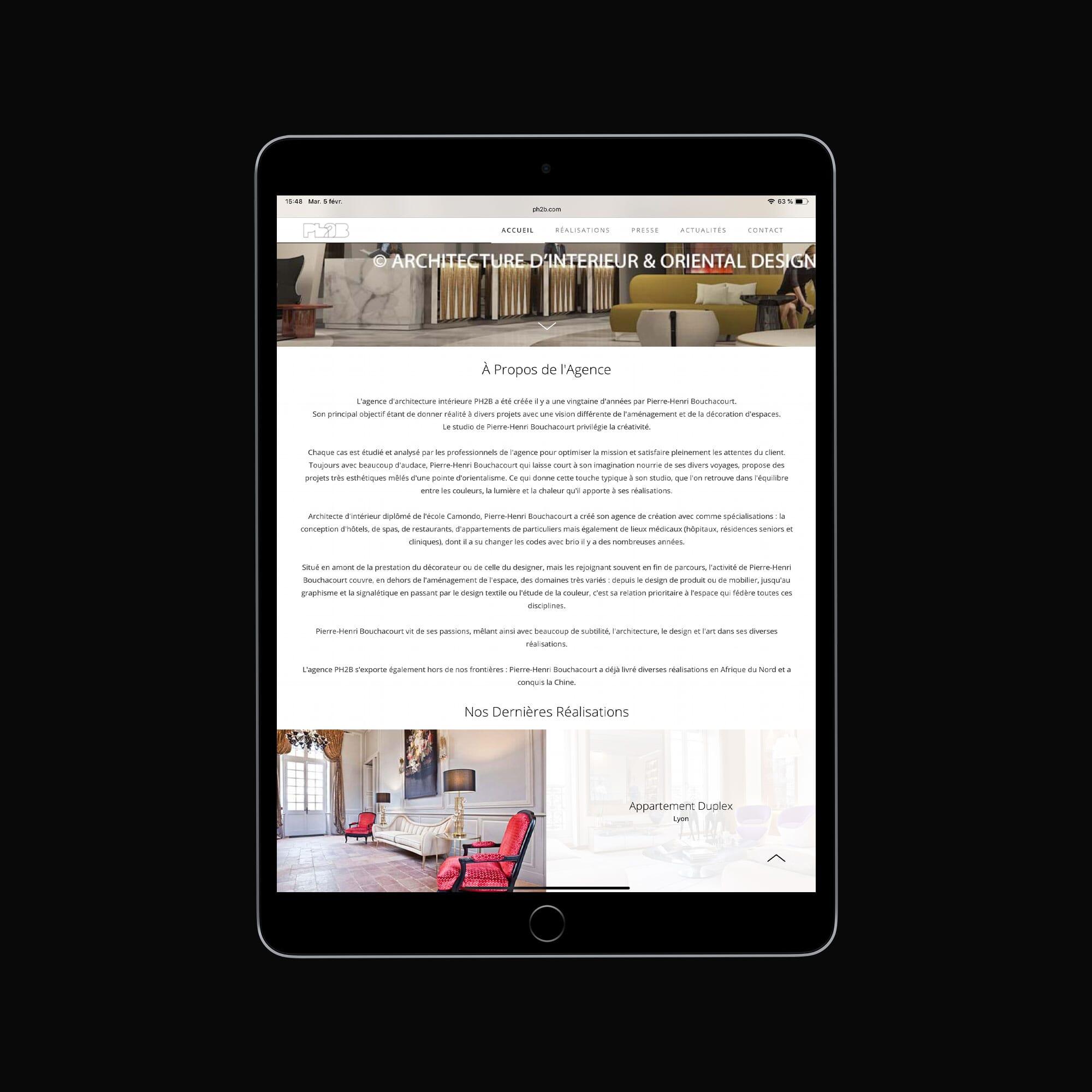 Site Web Agence Ph2B
